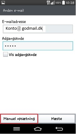 Android Opsætning – GodMail Support - Forside