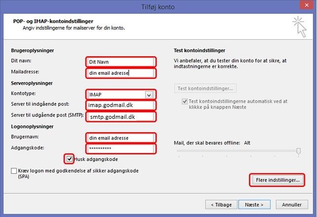 Microsoft Outlook 2013/2016 opsætning – GodMail Support - Forside